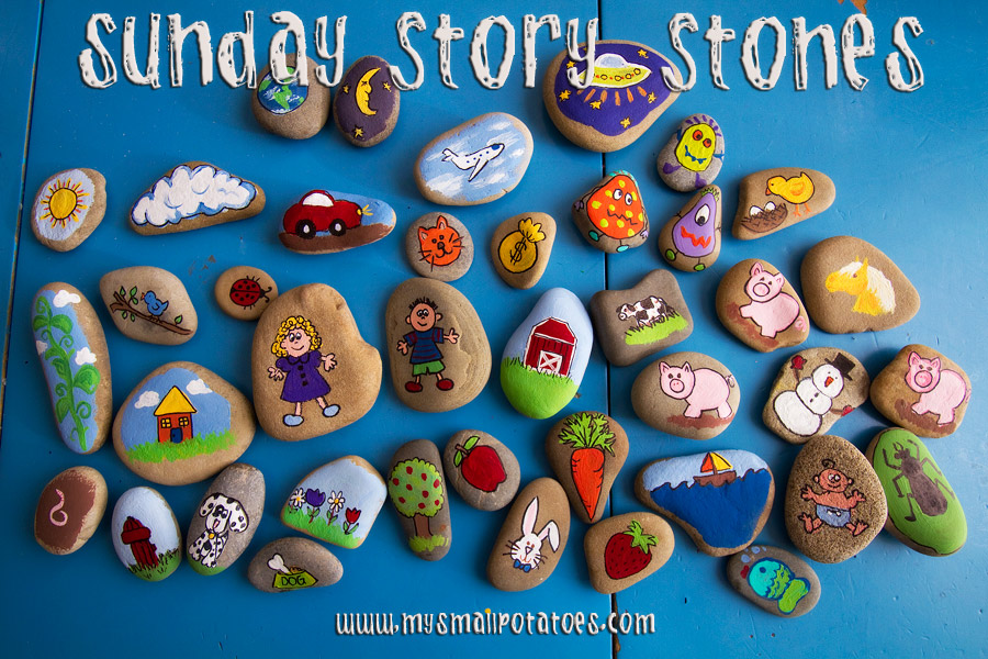 Painted Rocks With Bible Stories Craft