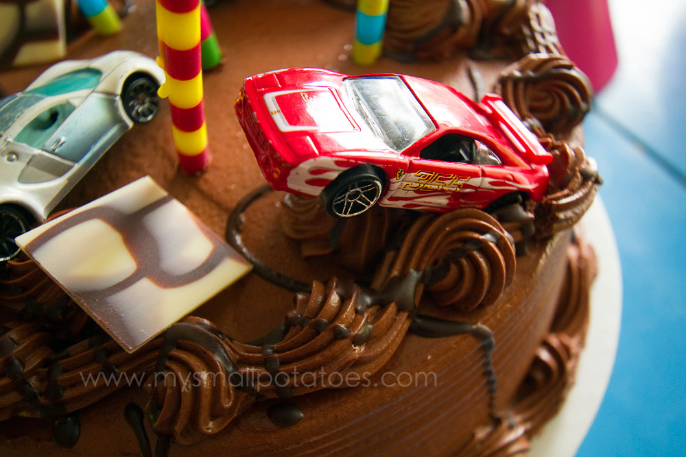 A Race Car Birthday Party on a KCar Budget Small Potatoes