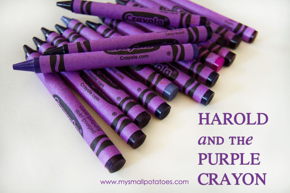 Purple Crayola Crayon purple crayon with him