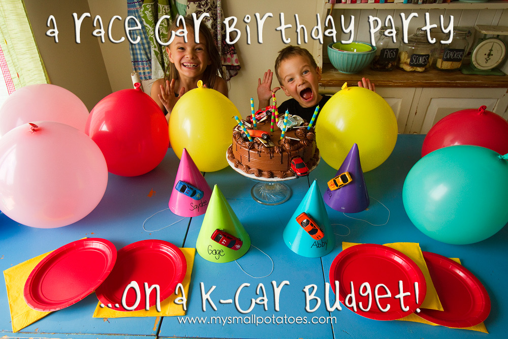 Race Car Birthday Party: A Race Car Birthday Party On A K-Car Budget…