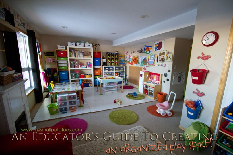 An educator s guide to creating an organized play space for Organize living room ideas