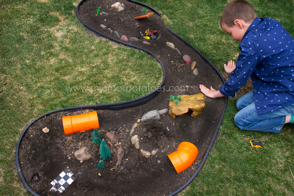 Build your own outdoor rally track small potatoes for How to build an outdoor aquarium